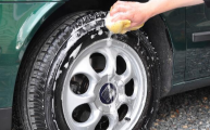 clean car tires